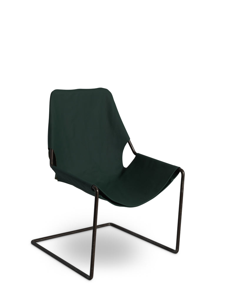 Nora Leather Armchair Green