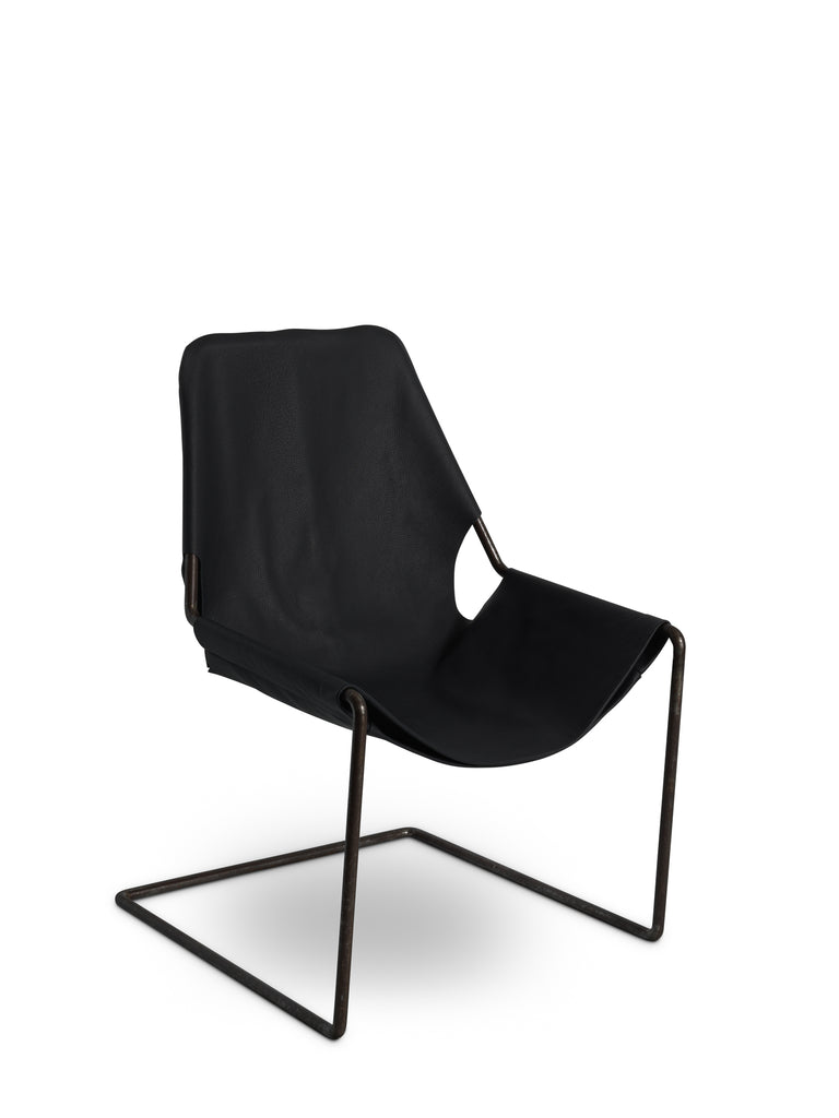 Nora Leather Armchair Black