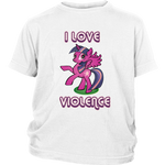 "Youth Sizes - ""I Love Violence"""