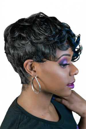 Luxurious Hair Wig, premium quality, Keyshia, curly, short, tapered