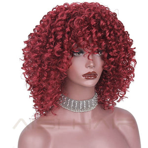 Afro Kinky Curly Wig  Blonde, Mixed Brown, Red, Black