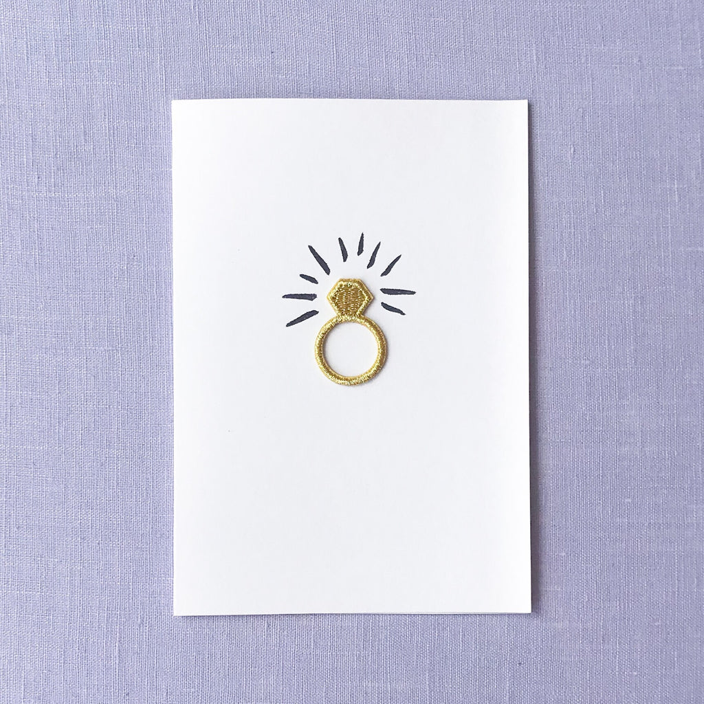 Ring Card- Iron on Charm