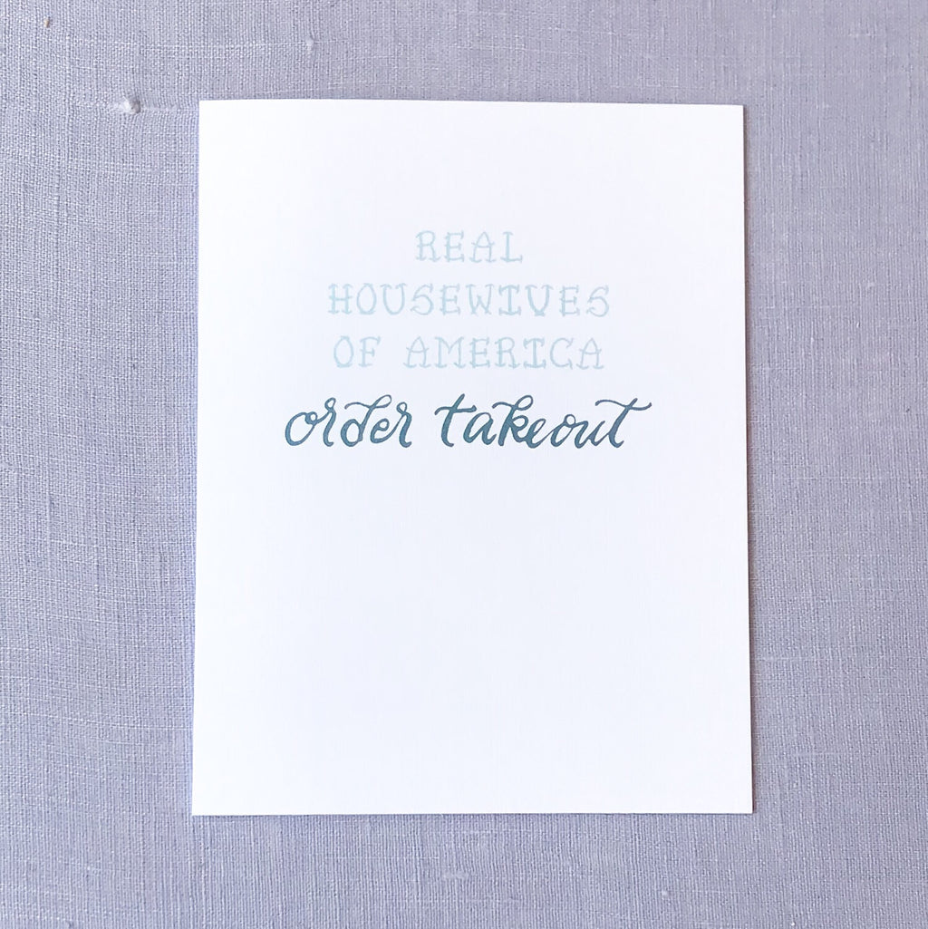Real Housewives Card