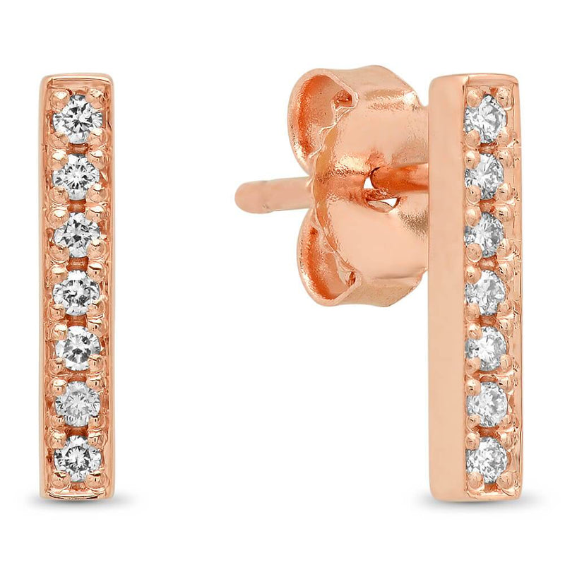 14k Gold Crawler Diamond Earrings