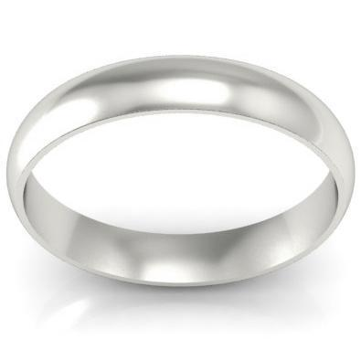 Thin Simple Platinum Wedding Ring 2mm