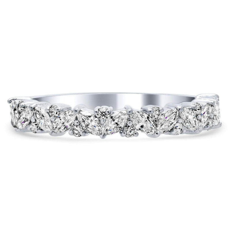 Asymmetrical Baguette Diamond Band