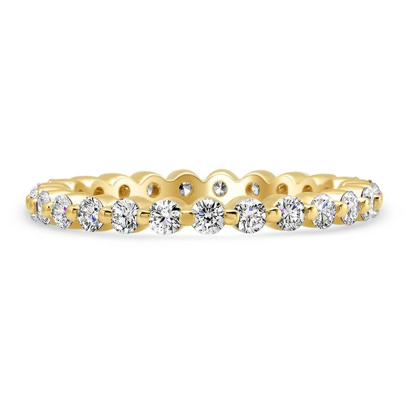 1.00cttw Round Four Prong Diamond Eternity Band