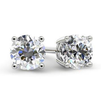 Forever One Moissanite Stud Earrings Moissanite Earrings deBebians