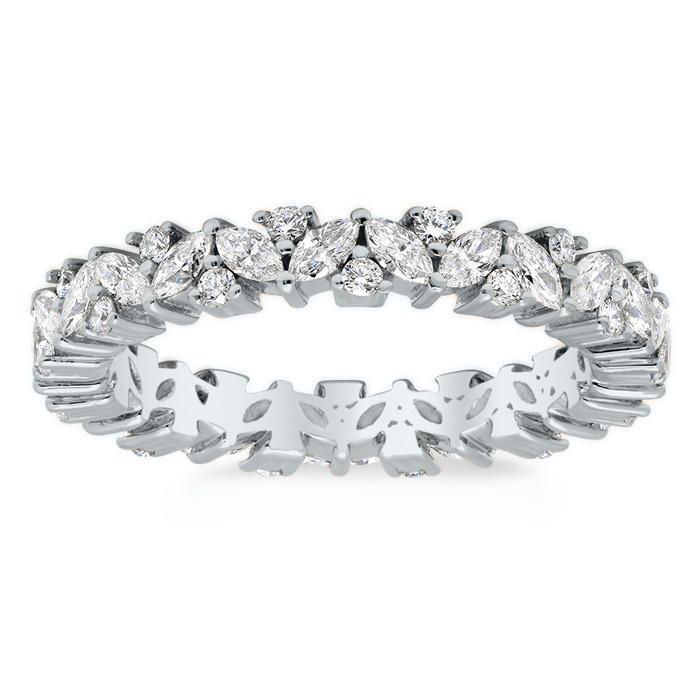 1.00 cttw Round Brilliant Cut Pave Set Diamond Eternity Band