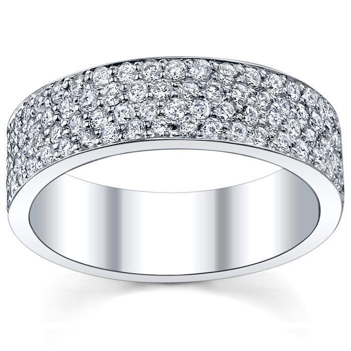 Round Diamond Garland Eternity Ring - 4.50 cttw