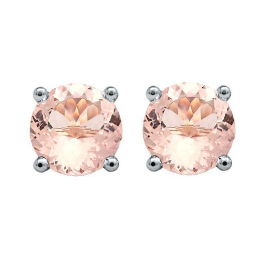 Morganite Stud Earrings Gemstone Stud Earrings deBebians