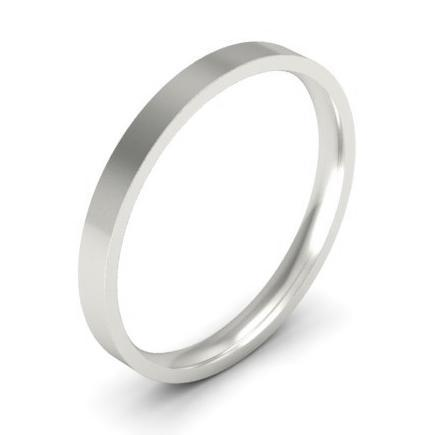 Thin Simple Platinum Wedding Ring 2mm Plain Wedding Rings deBebians