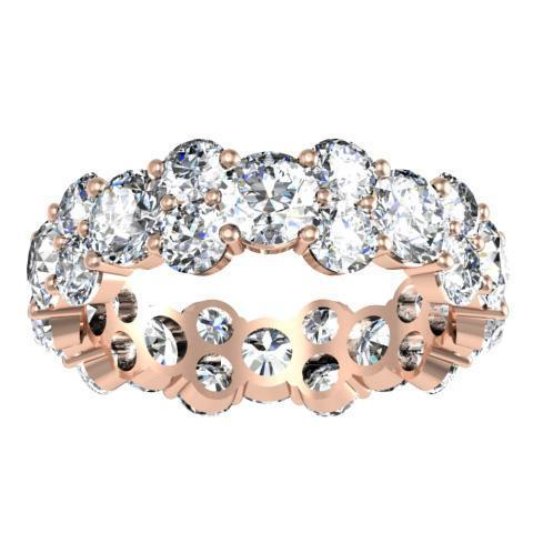Round Diamond Garland Eternity Ring - 4.50 cttw Diamond Eternity Rings deBebians