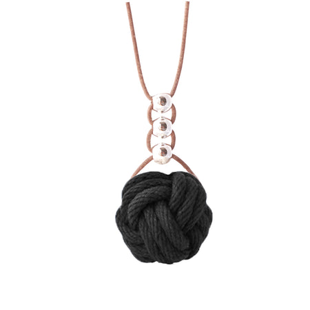 Charmed knot steel necklaces - various options