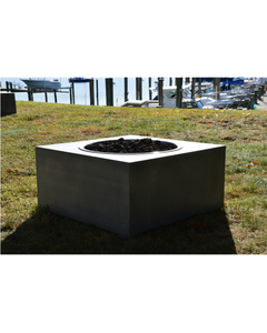 Concrete Fire Table:  Geometric