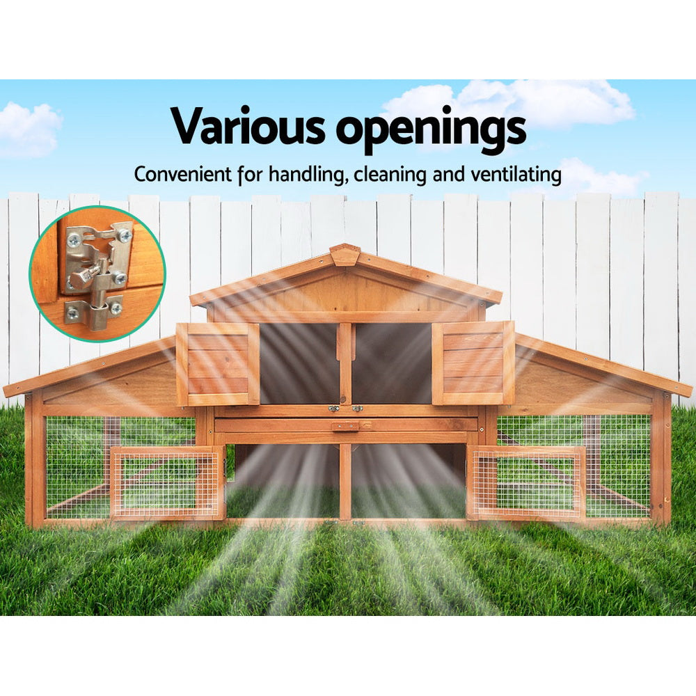 i.Pet Villa - Two-Storey Wooden Coop/Hutch