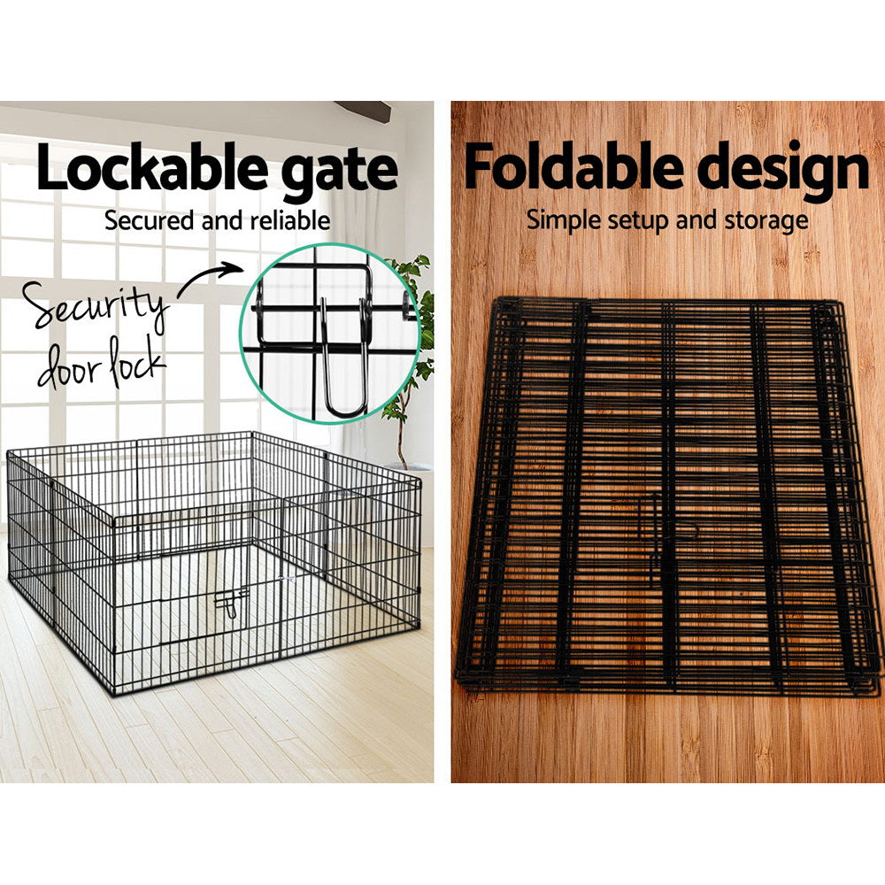 ipet small 8 panel playpen square assembly