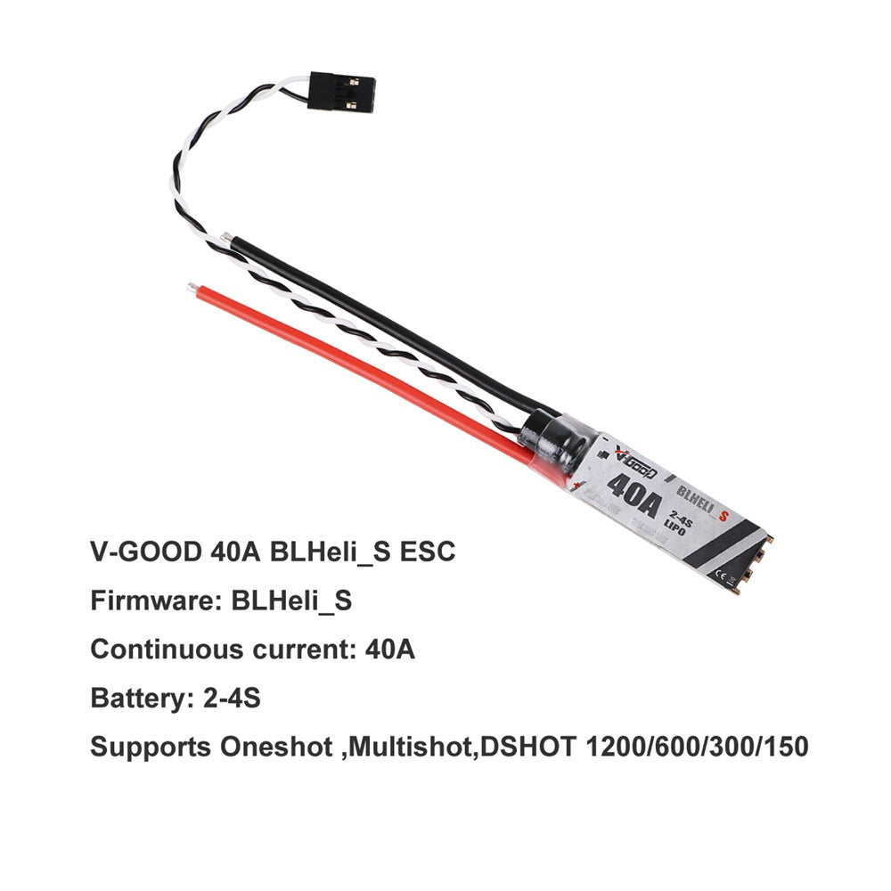 4PCS VGOOD Slim 40A ESC 2-4S BLHeli_S Support Oneshot MultiShot For RC Drone FPV Racing Multi Rotor