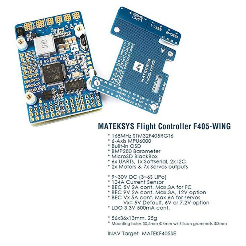 Makerfire Matek F405 Wing Flight Controller Built-in OSD Sense Board for RC FPV Racing Drone