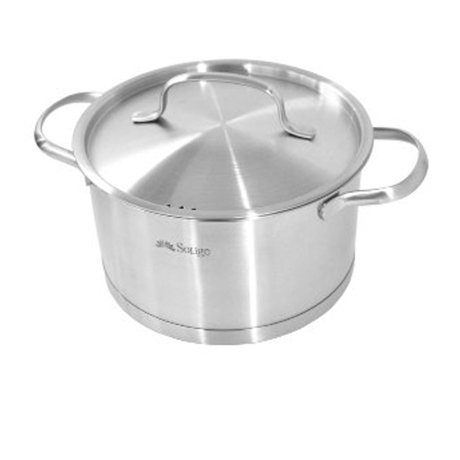 Large Casserole Pot With Lid - 20 cm Stainless Steel-Stainless Steel Cookware-Chef's Quality Cookware