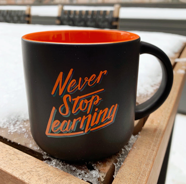 College Info Geek Never Stop Learning Mug