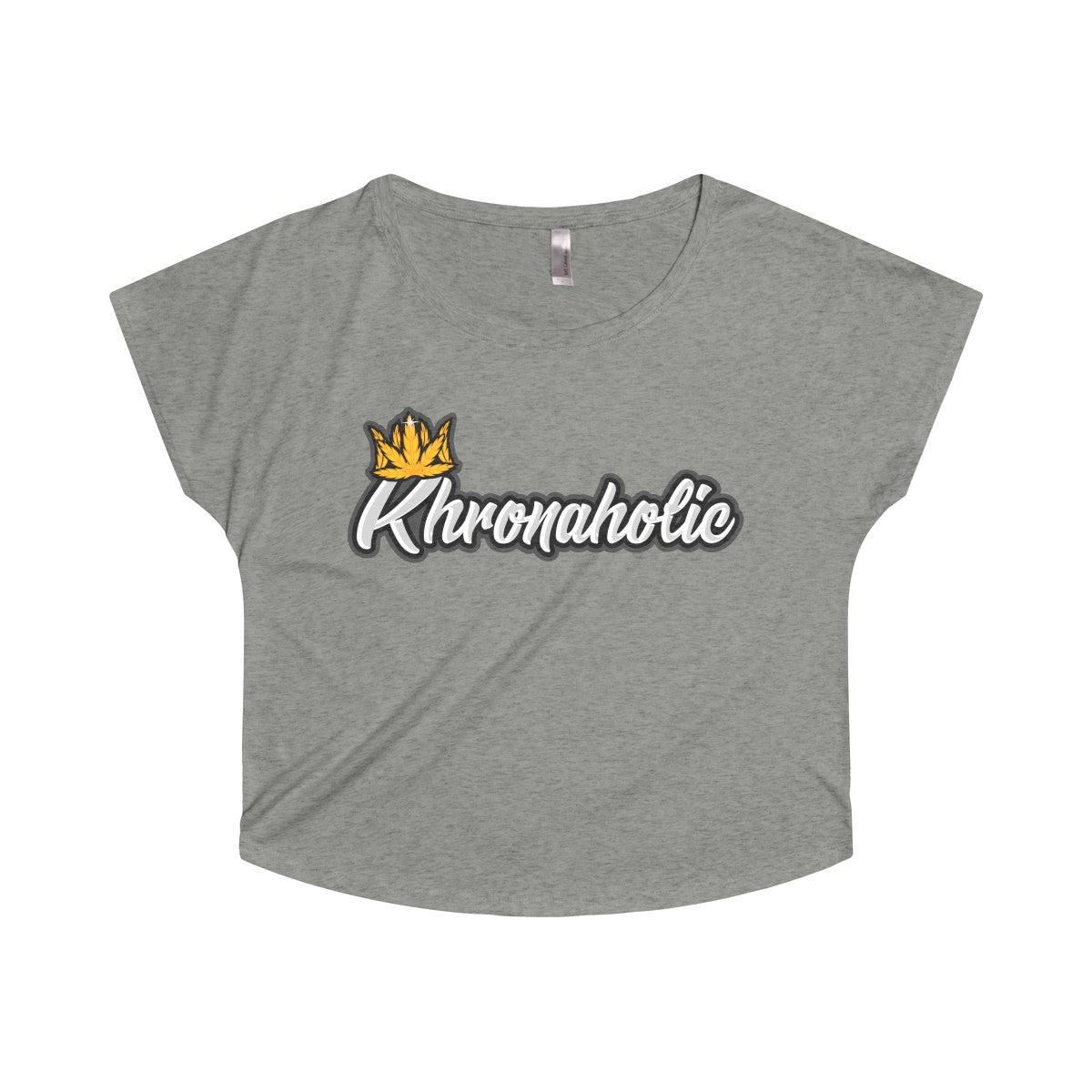 "Khronaholic ""CannaCrown"" Collection Women's Tri-Blend Dolman Shirt"