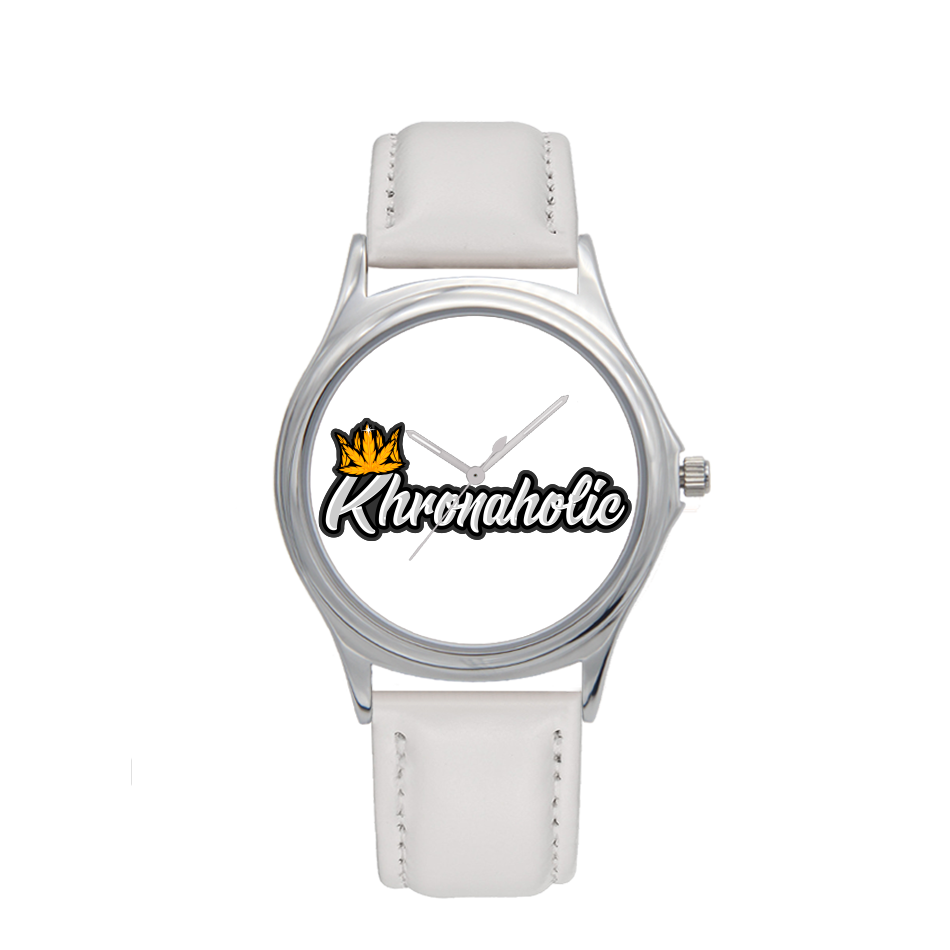 "Khronaholic ""CannaCrown"" Water-Resistant Leather Strap Watch"