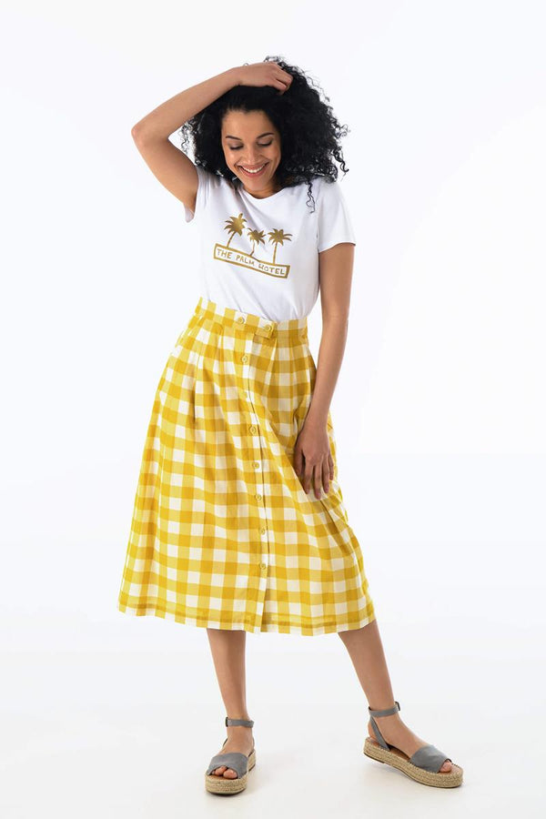 Emily and Fin ISLA Skirt Yellow Plaid