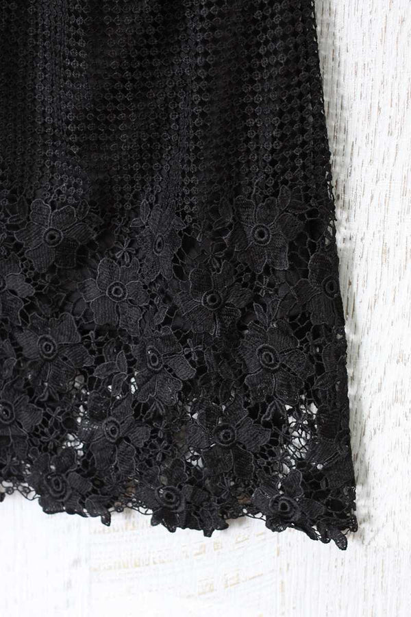 Lucy Paris Greer Mix Lace Pencil Skirt