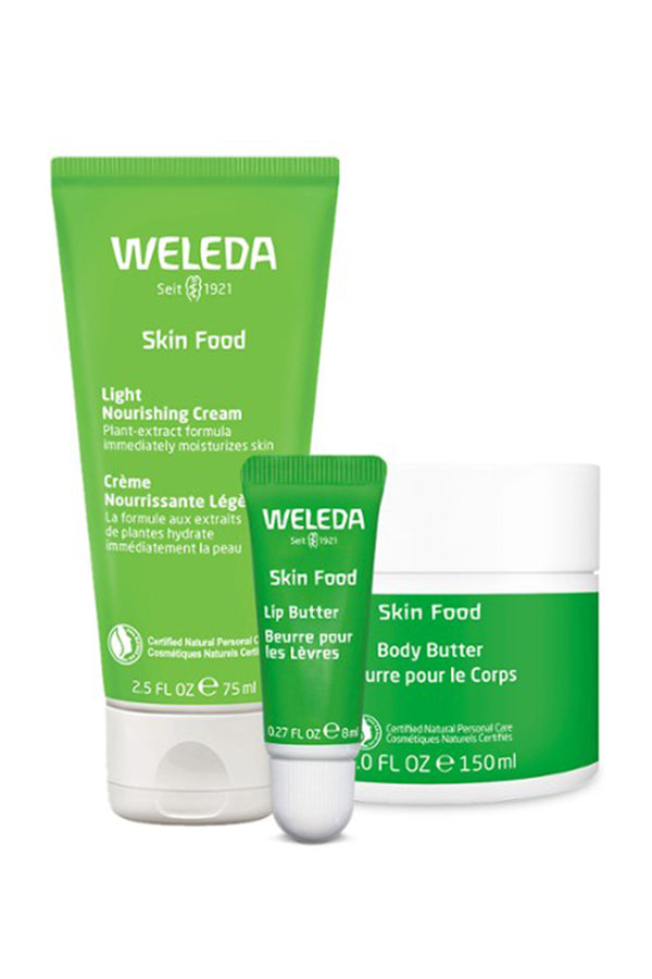 Weleda Skin Food Beautiful Head to Toe Bundle Light
