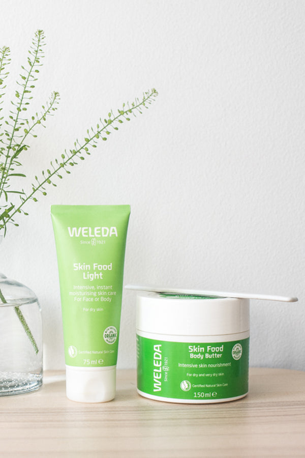 Weleda Skin Food Beautiful Face and Body Bundle Light