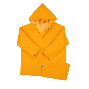 "4148 35 mil PVC on polyester 48"" Rain coat"