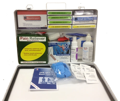 Deluxe Vehicle First Aid Kit - Metal Case