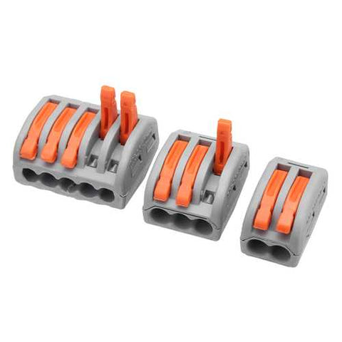 Excellway 60Pc 2/3/5 Hole Electrical Connectors Wire Block Electrical Wire Connector Terminal