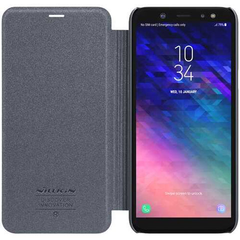 NILLKIN Flip PU Leather Hard PC Protective Case for Samsung Galaxy A6 2018