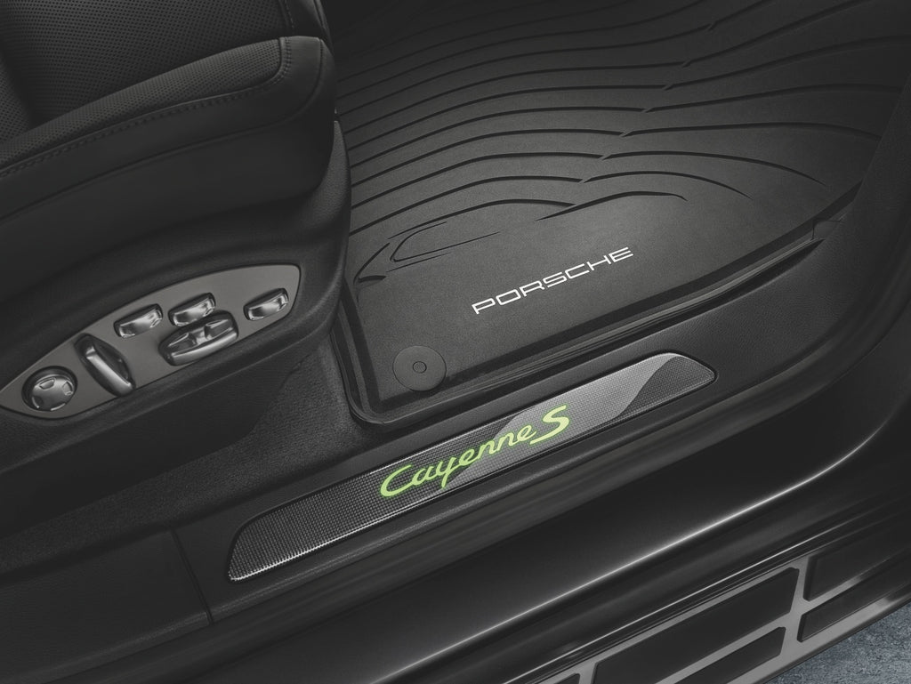 Porsche All-weather Floor Mats - Cayenne E2 - WITH 4-zone climate cotrol