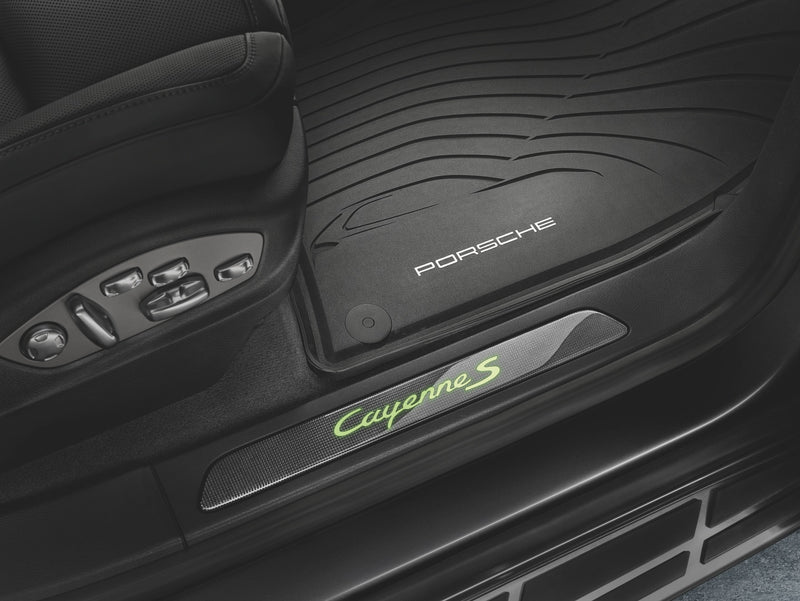 Porsche All-weather Floor Mats - Cayenne E2 - WITHOUT 4-zone climate cotrol