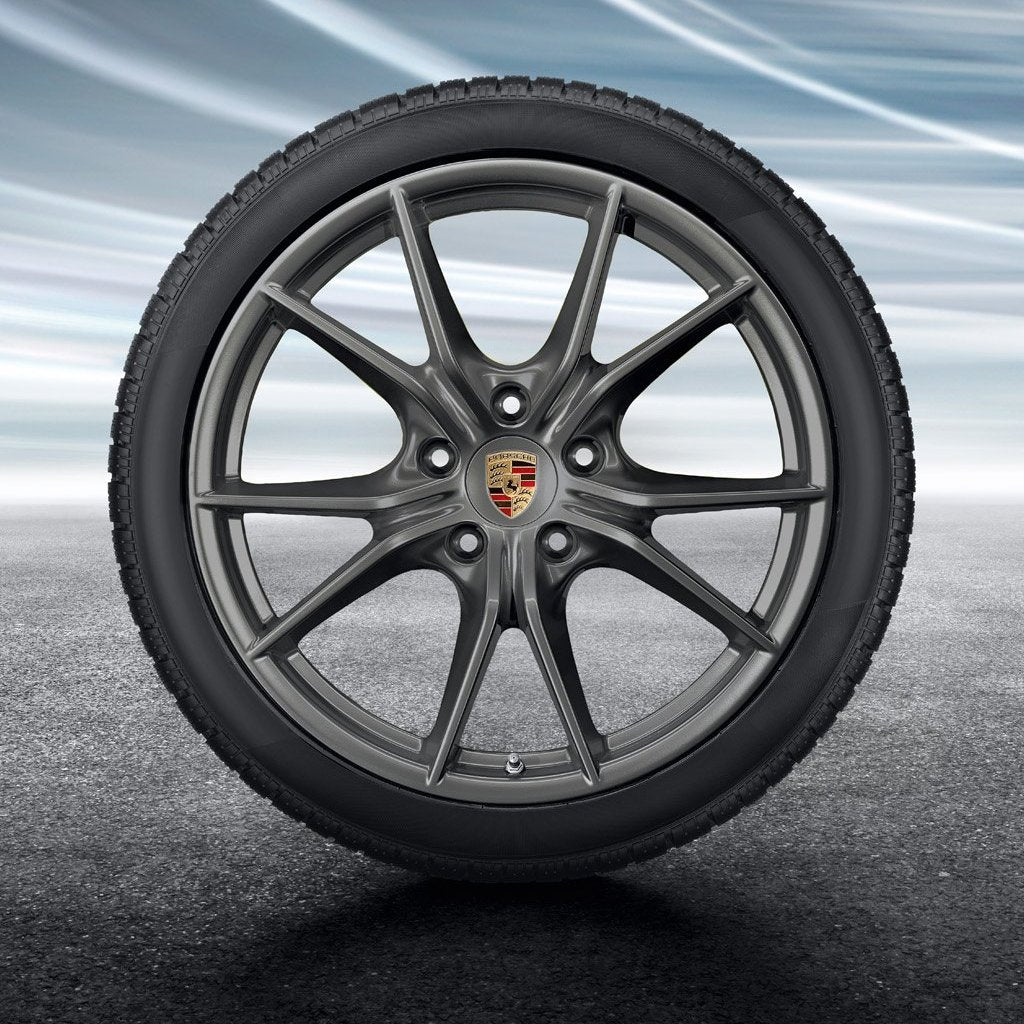 "20-inch ""Carrera S"" Winter Set - for wide body 911 (991.2) - in Platinum"