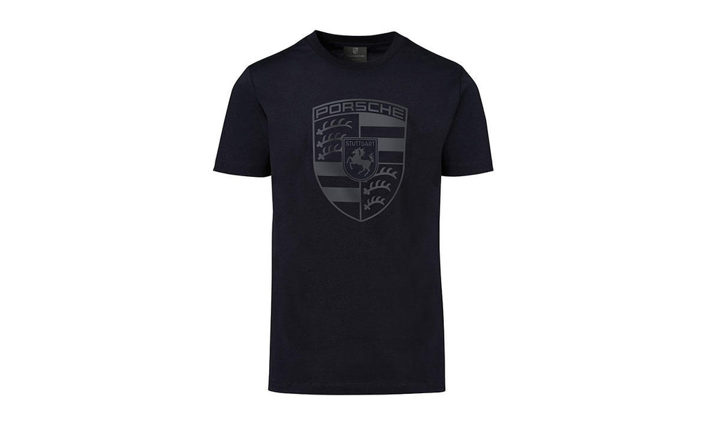 Porsche Driver's Selection Men's T-Shirt with Porsche Crest - Black