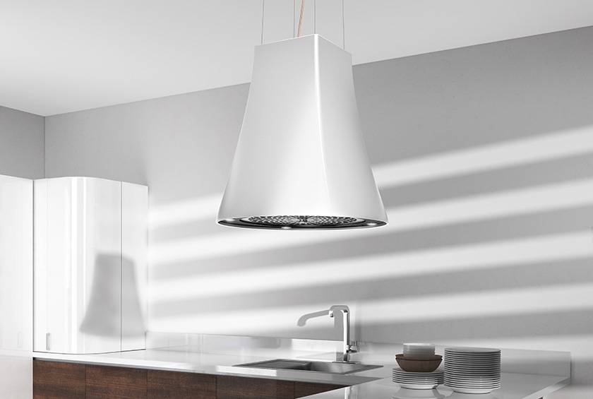 Airforce Adel 50cm Island Lamp Hood with Integra System - White