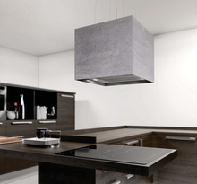 Airforce Concrete 40cm Island Cooker Hood - Grey - large