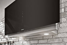 Airforce Vertical Graphite 90cm Wall Mounted Cooker Hood-Black glass
