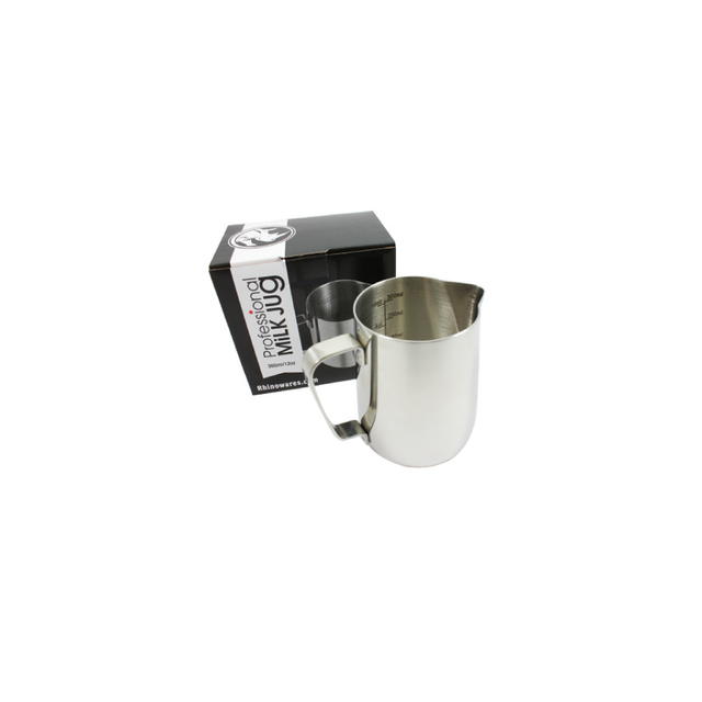Rhino Classic Milk Pitcher (360ml/12oz) (Stainless Steel)