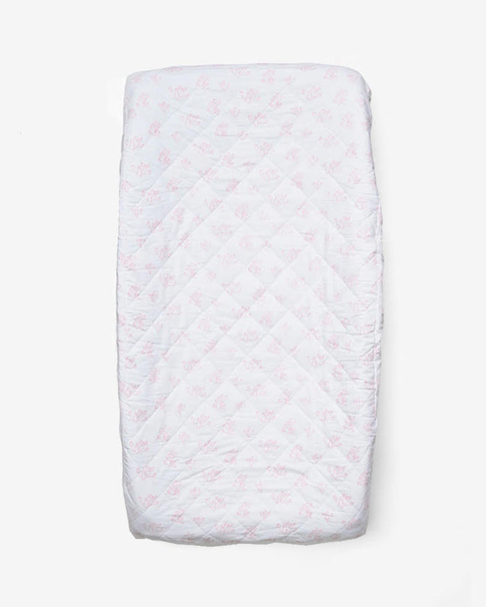 Little lewis room rose hip changing pad cover in blush