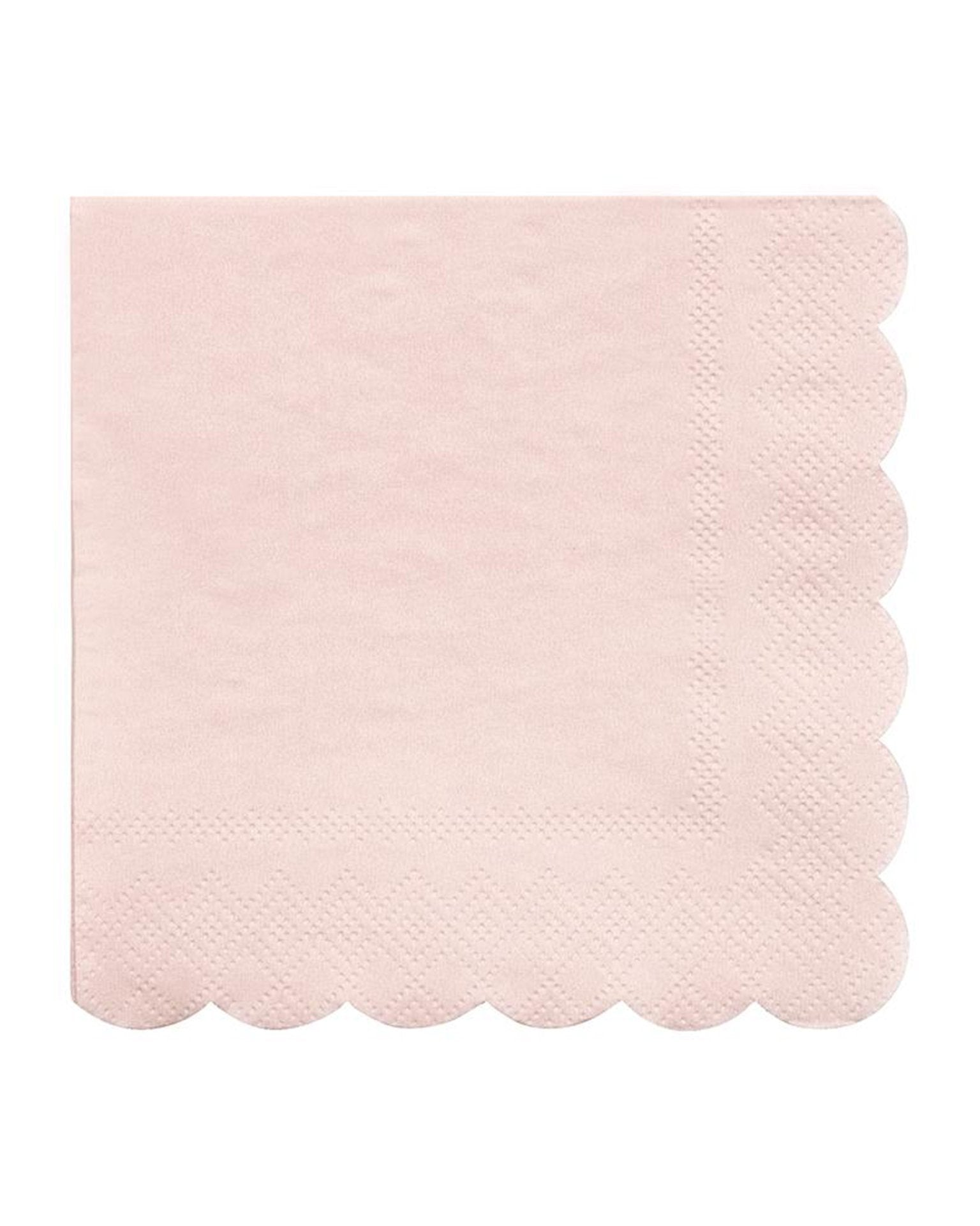 Little meri meri paper+party small pale pink napkins