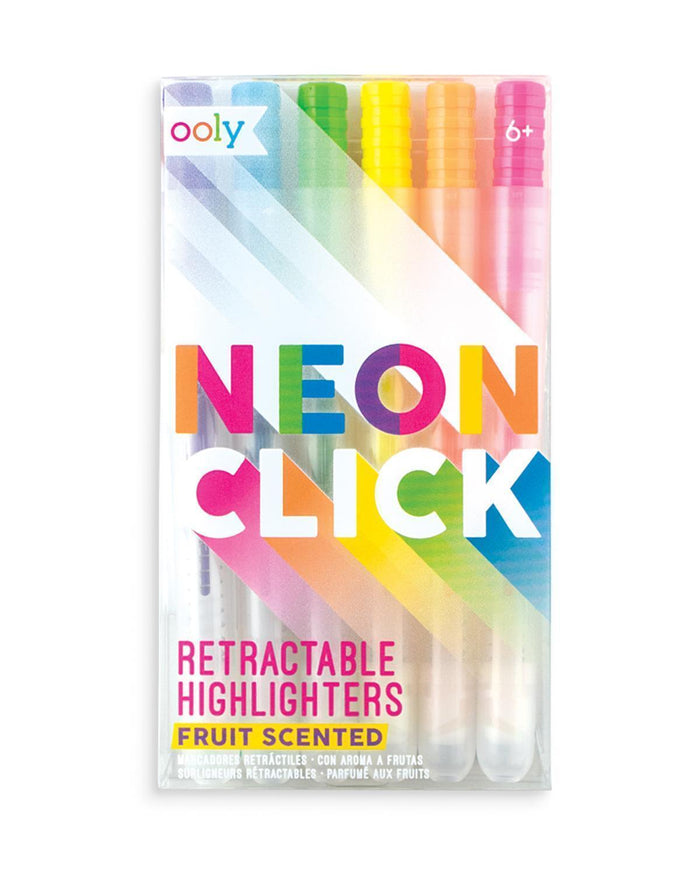 Little ooly play neon retractable highlighters