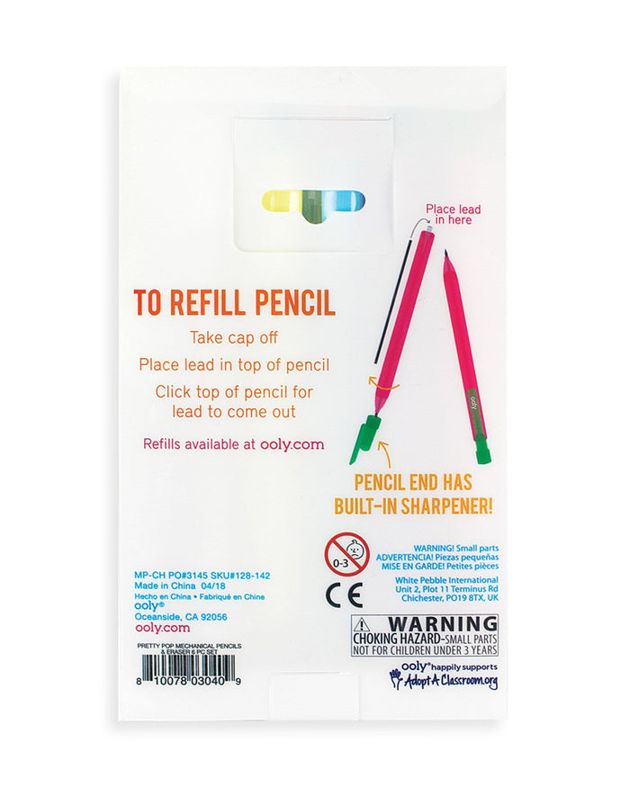 Little ooly play pretty pop mechanical pencils