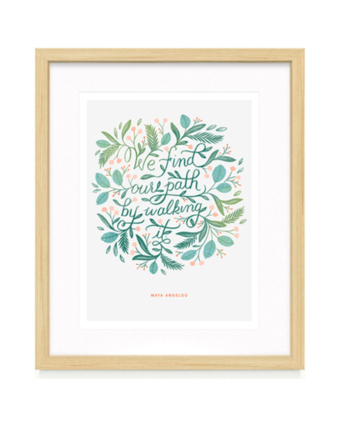 Little paper raven co. room find our path print