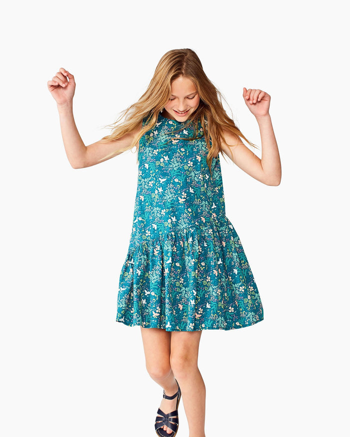 Little tea collection big girl 10 asymmetrical skirted dress