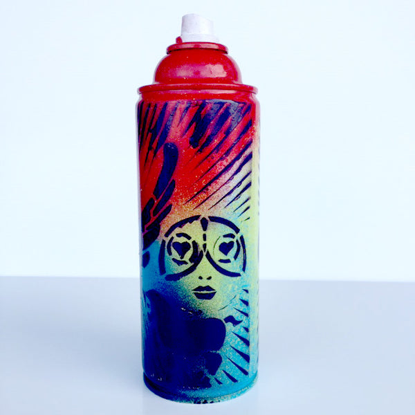 Color Your Life - Red Spray Paint Can - Artwork  - 50U-G94-245 - Chady Elias